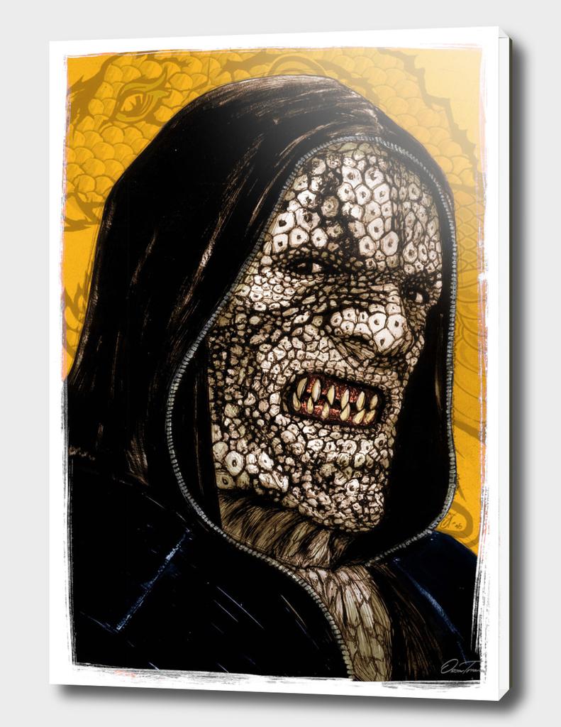Killer Croc- Ink & Digital Portrait