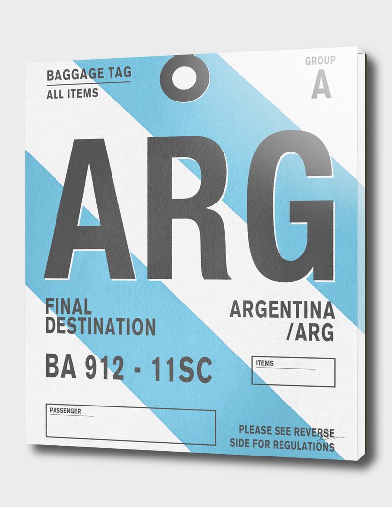 Destination Argentina - Vintage Luggage Tag