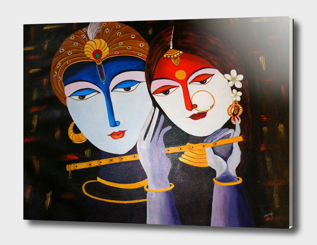 Divine Lovers Krishna and Radha