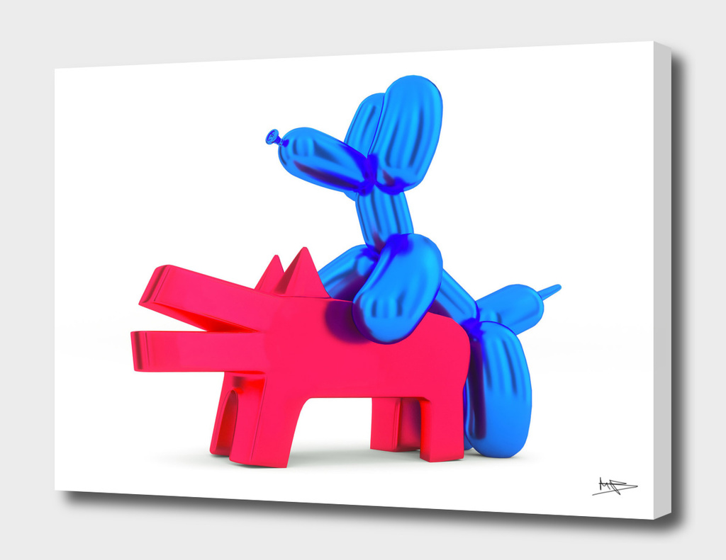 when balloon dog meets keith haring dog