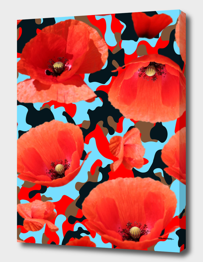 Poppie Camouflage Red Blue -Living Hell