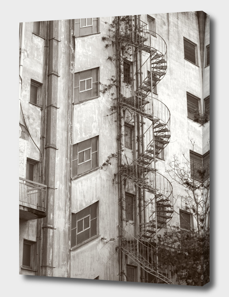 Vintage Spiral Stairs, Athens Greece