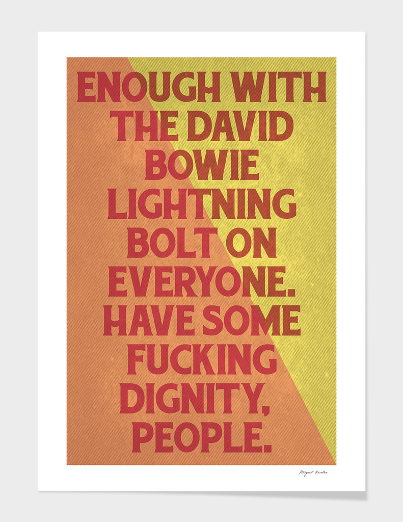 Enough, people!
