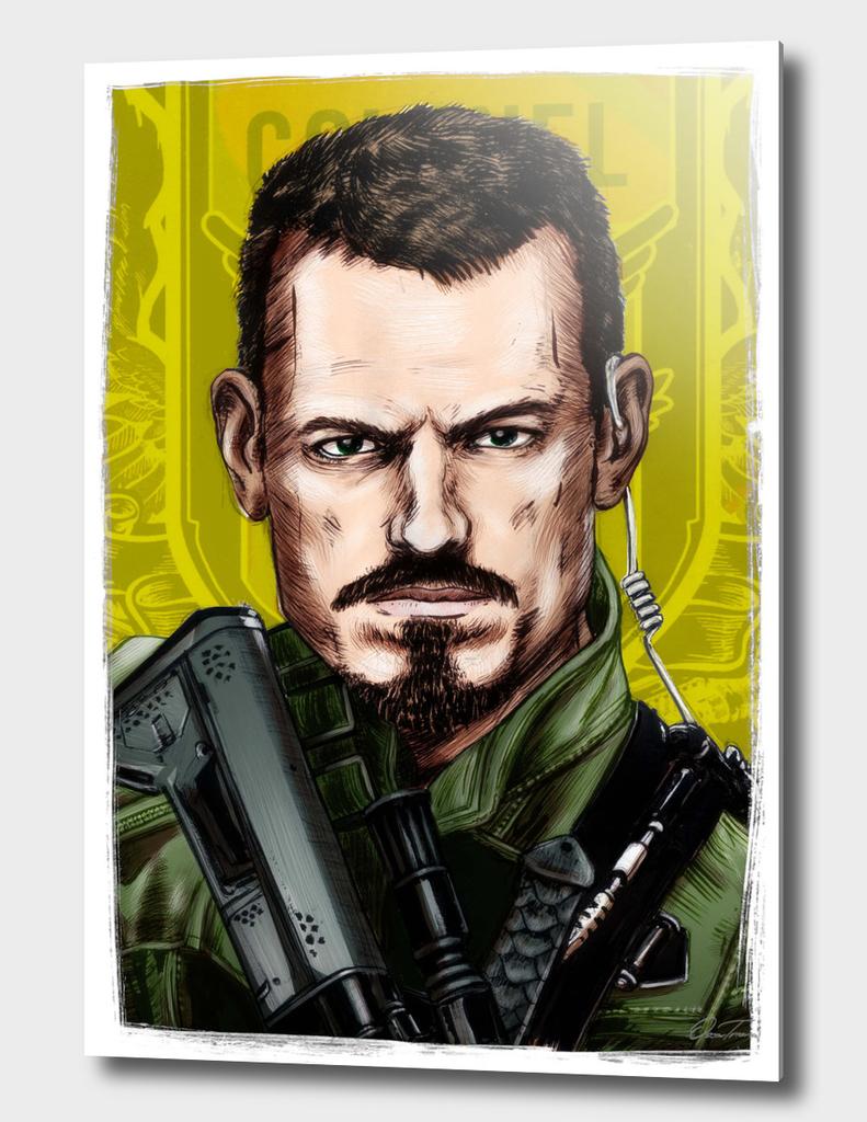 Rick Flag - Ink & Digital Portrait