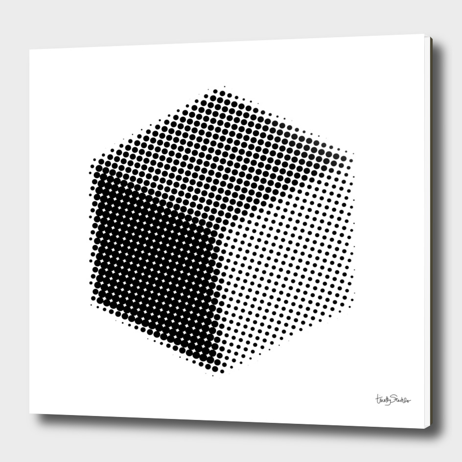 Cube in Halftone