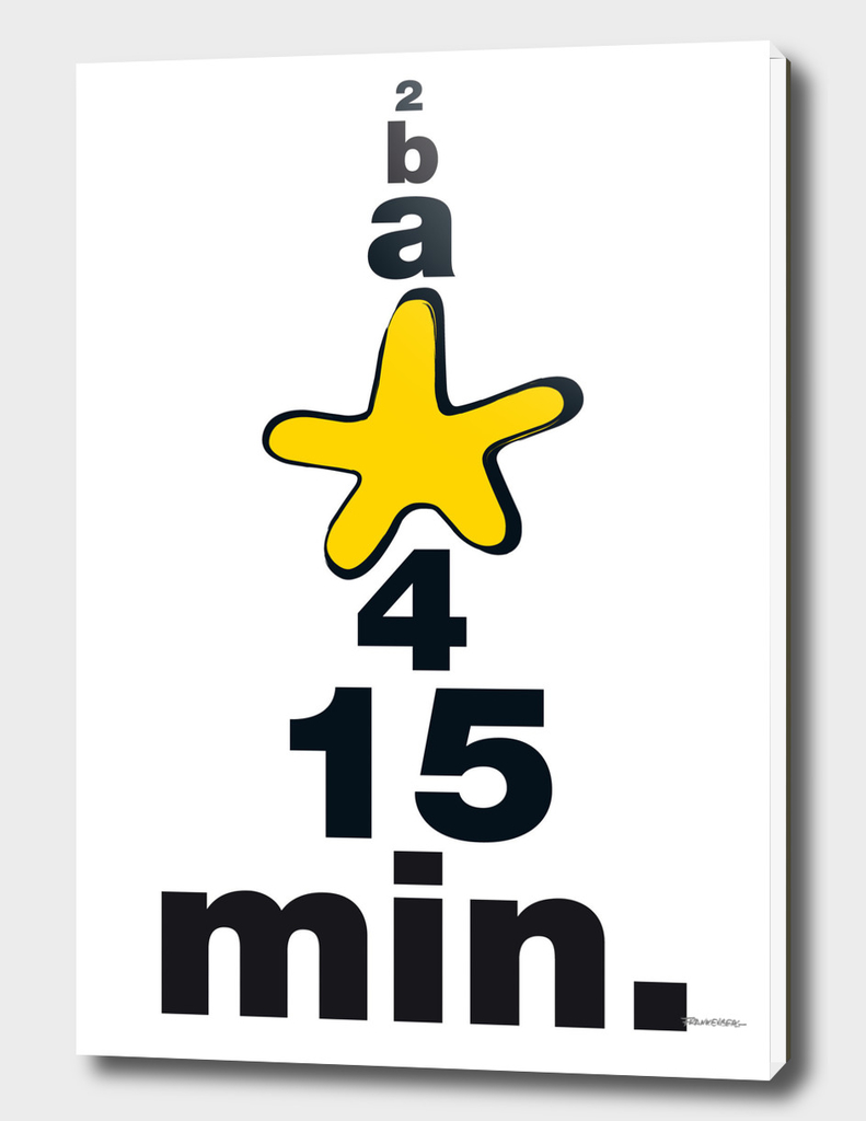 b a Star 4 15 Min. - yellow