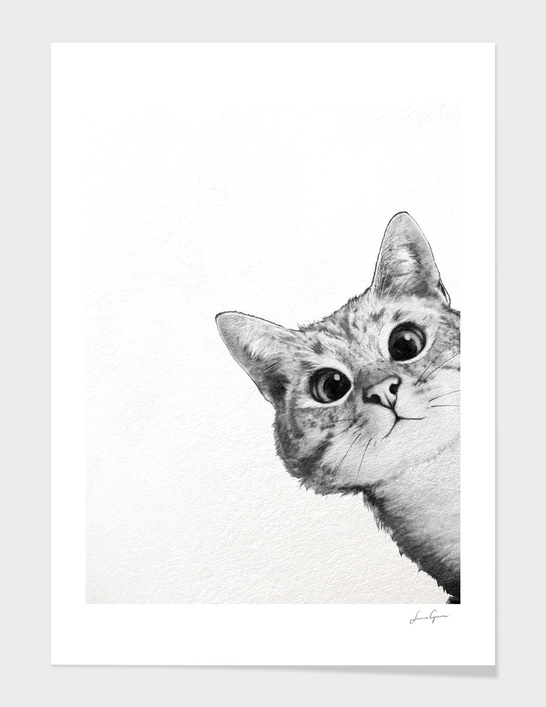 171 Sneaky Cat 187 Art Print By Laura Graves Curioos