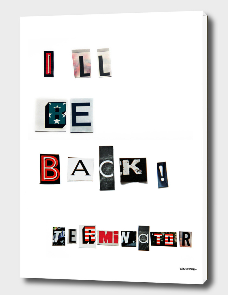 I ll be Back - anonymous threatening letters