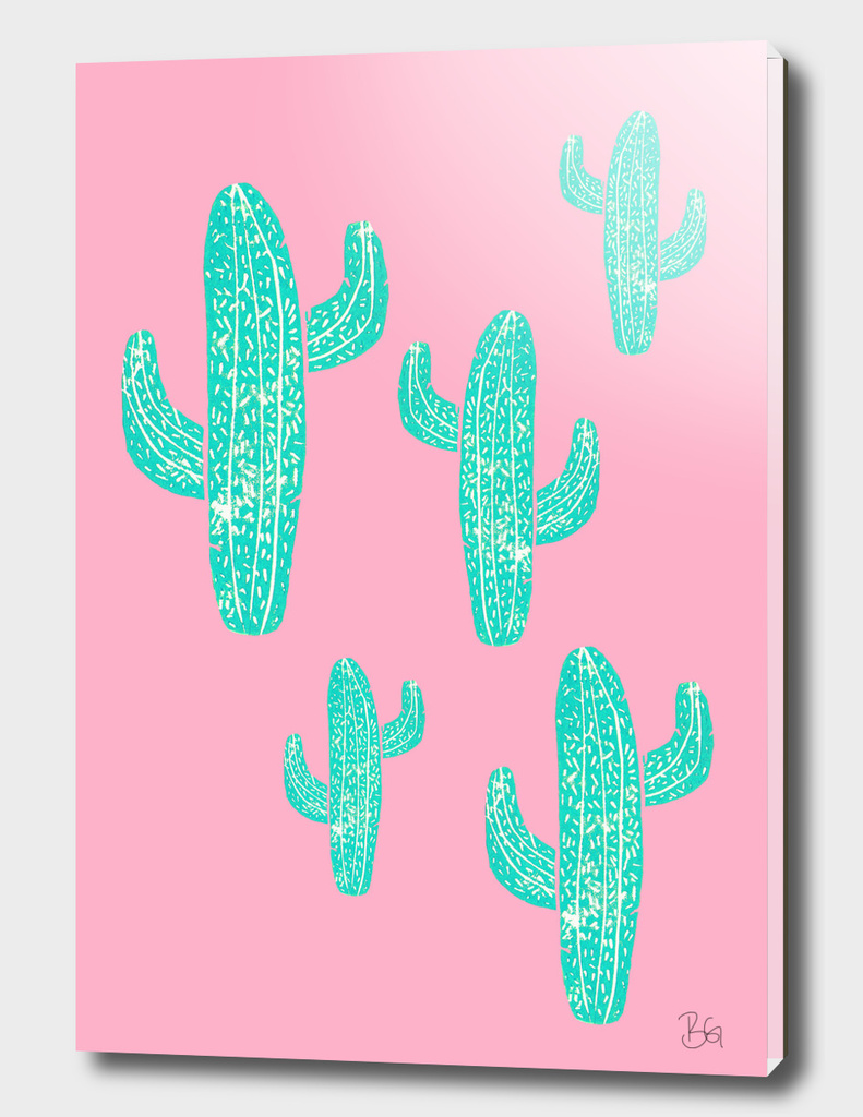 Linocut Cacti Candy