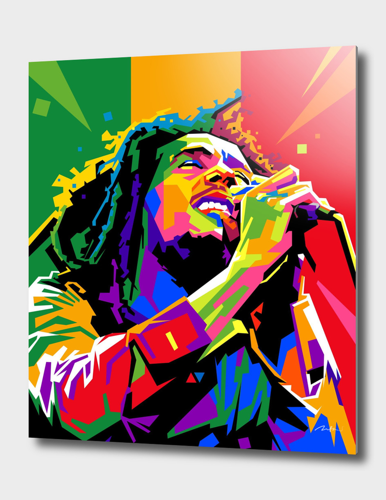 Bob Marley Pop Art Wpap