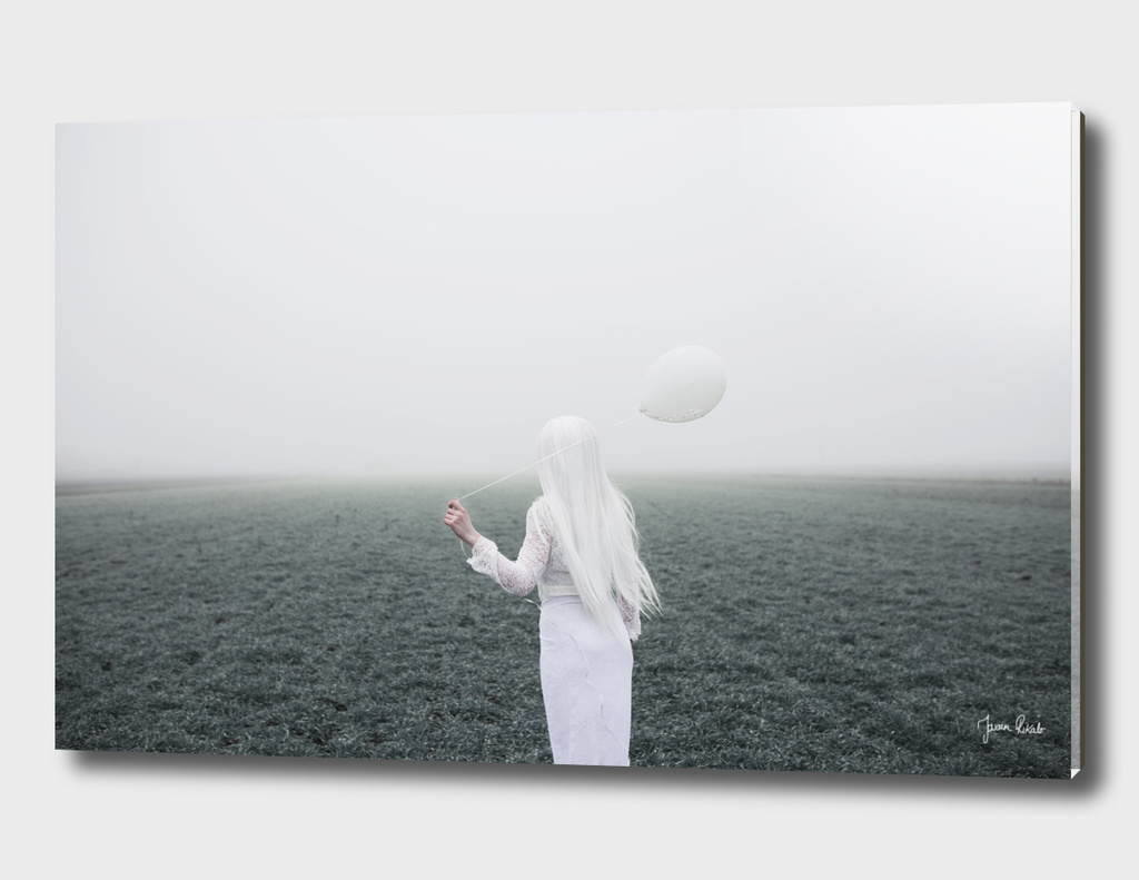 Girl and white balloon