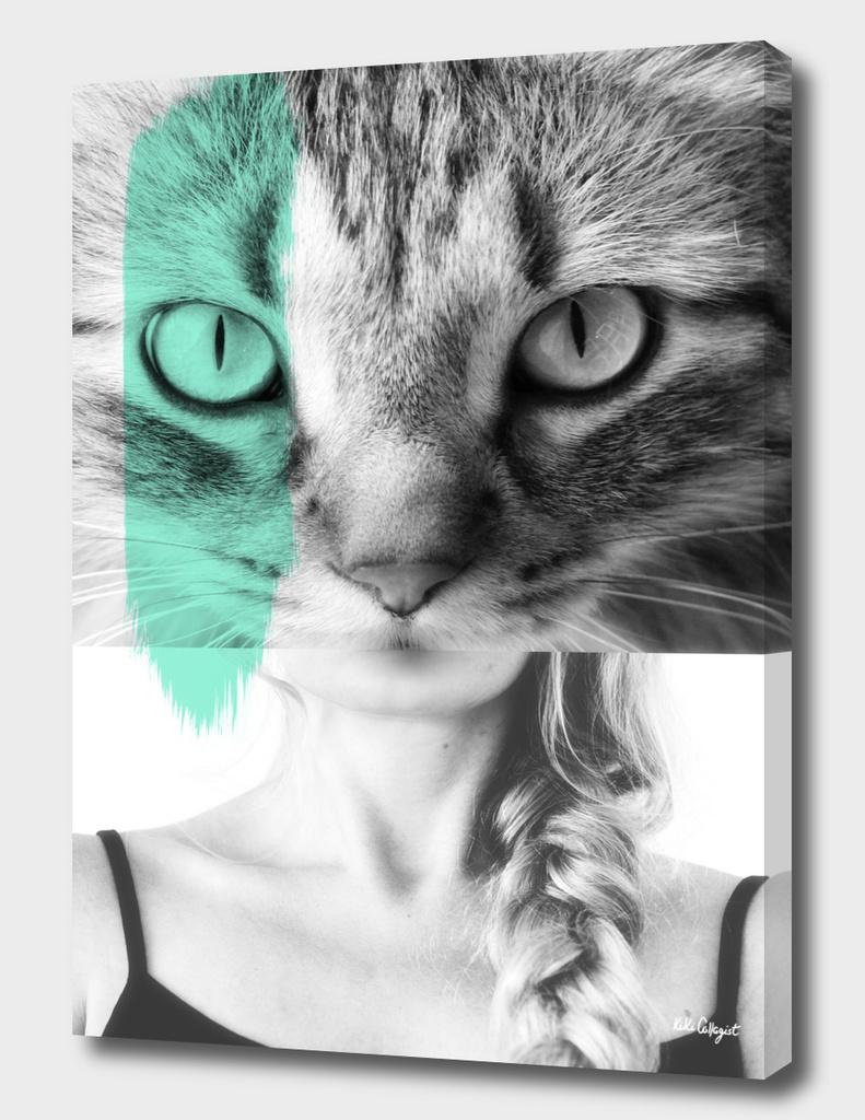cat eyes green
