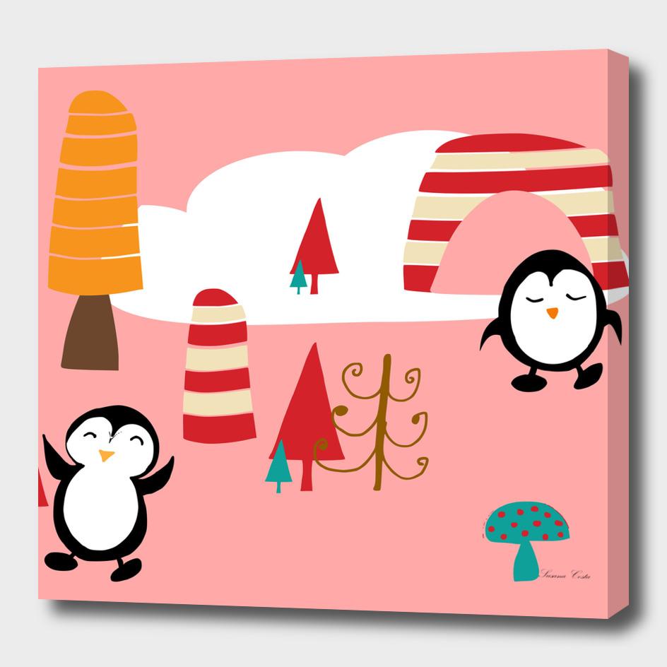 Oriana Penguin Pink