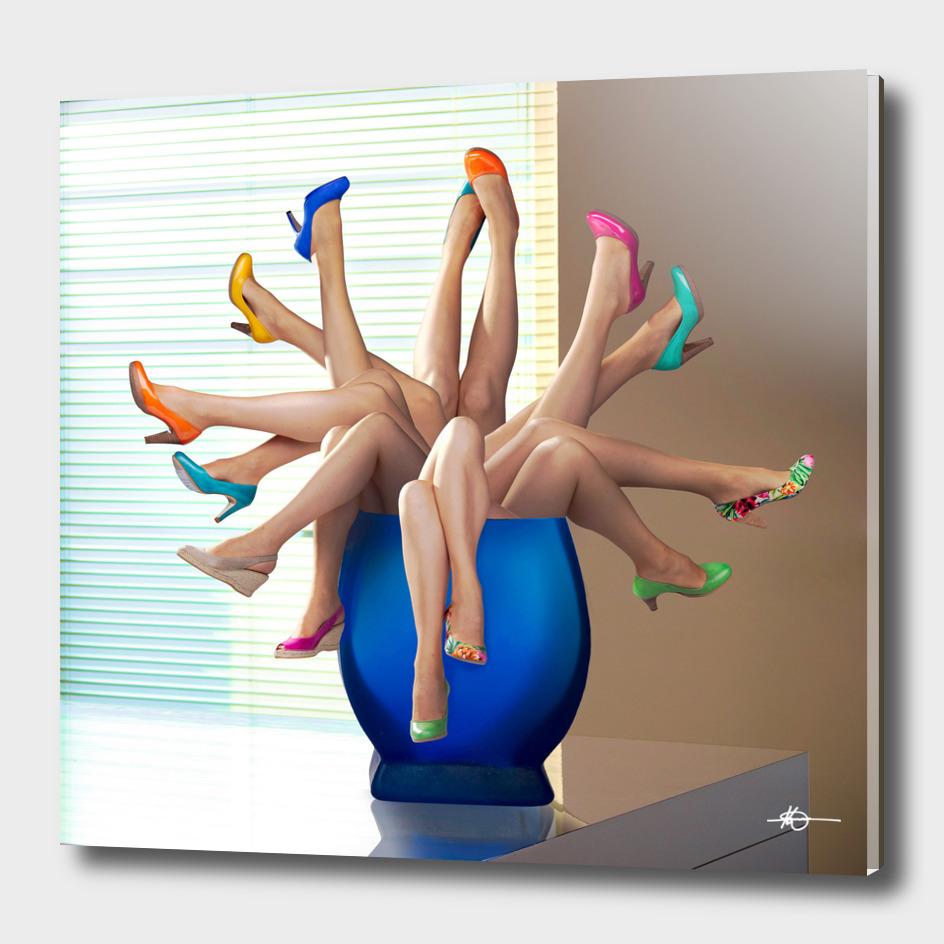 Pumps in vase