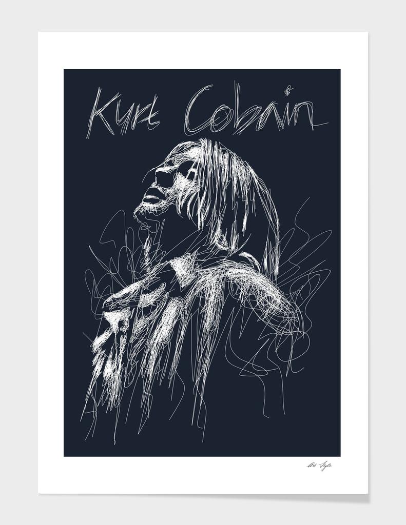 Kurt Cobain Scrible