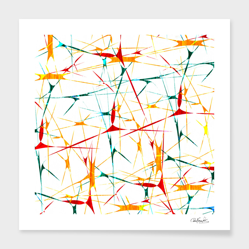 Multicolored Splatter Abstract Print