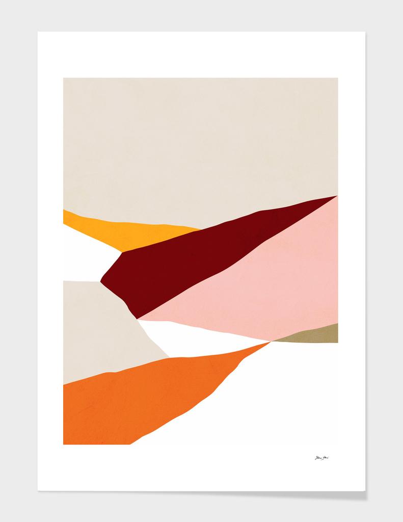 Abstract Fields 2b. Orange & Pink