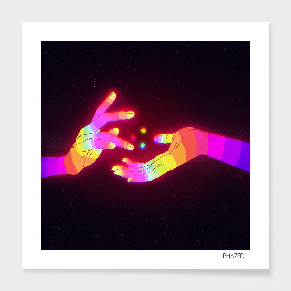 Psychedelic Energy Hands 1 (GIF)
