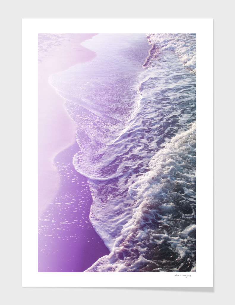 Soft Lavender Purple Ocean Dream Waves #1 #water