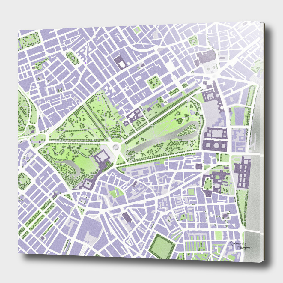 St James park map London