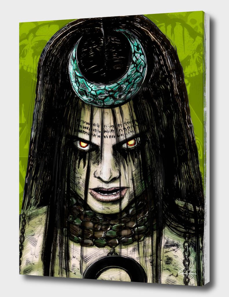 Enchantress - Ink & Digital Portrait