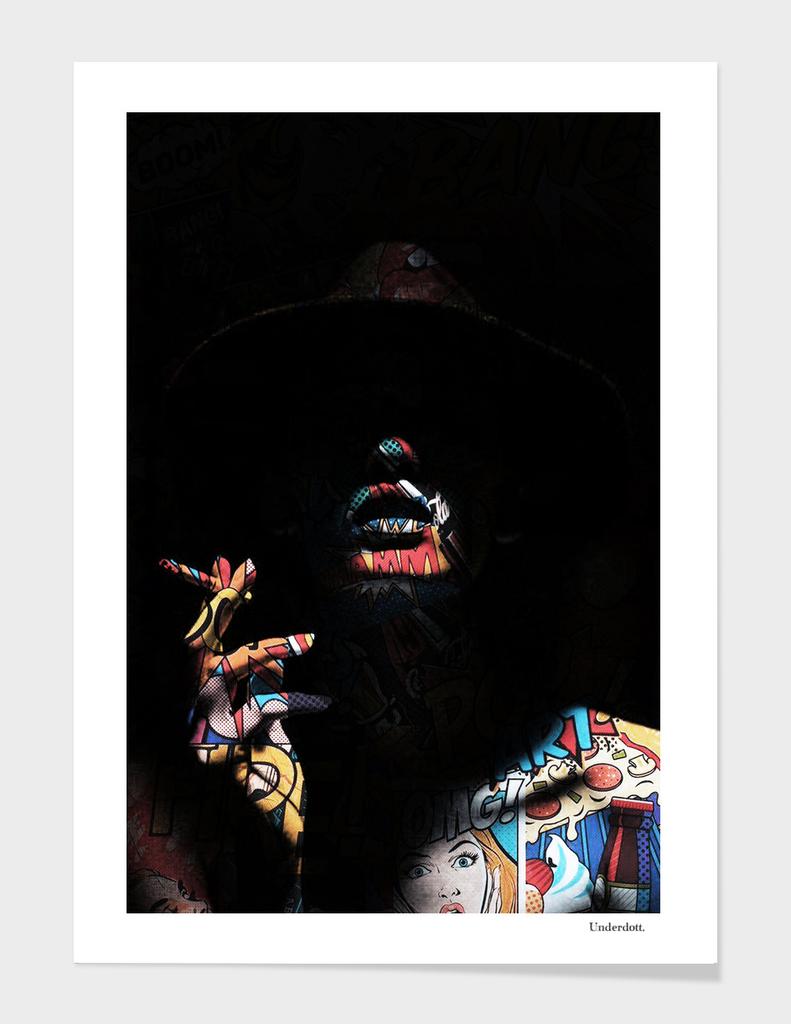 Pop art in the shadows