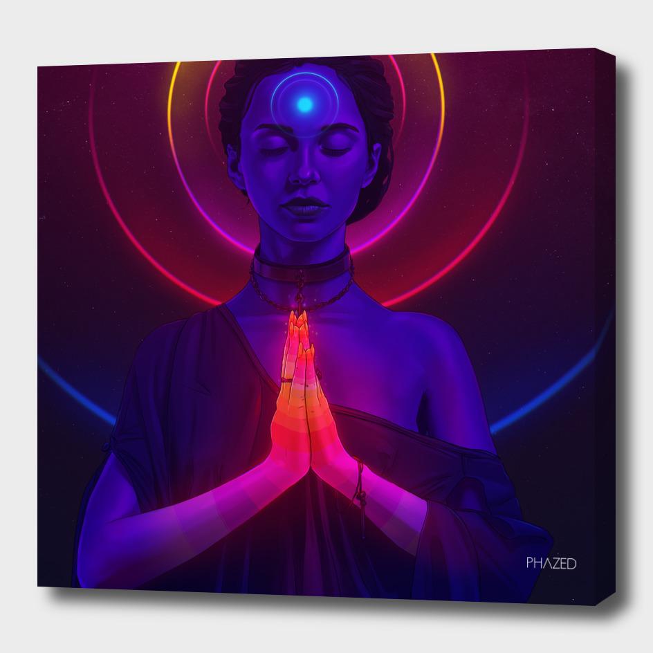 Cosmic Meditating Girl