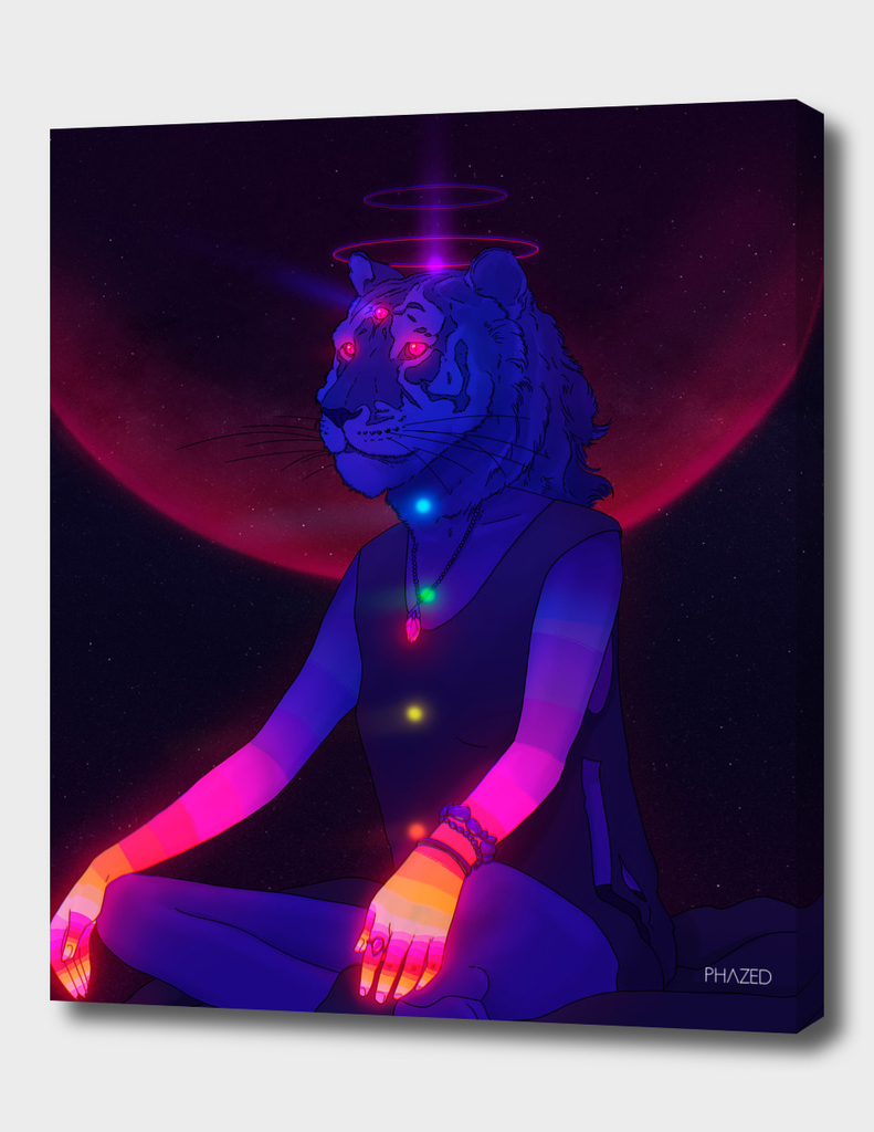 Meditating PsyTigress