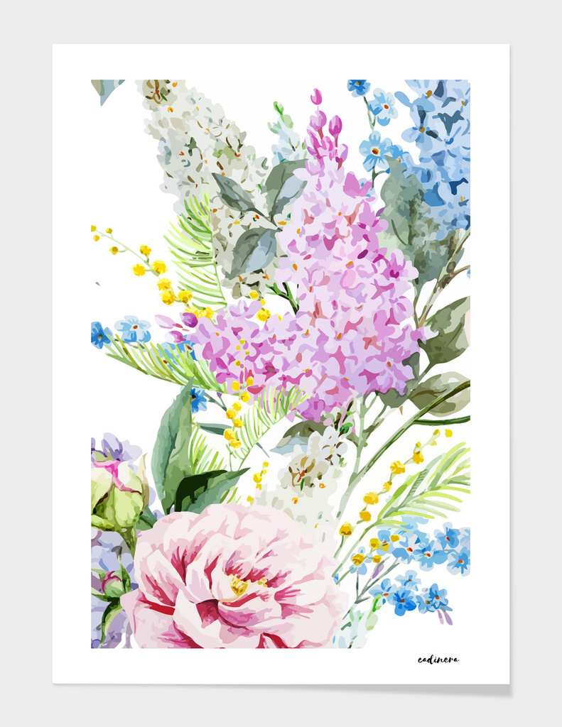 Vision in White // Watercolor Floral