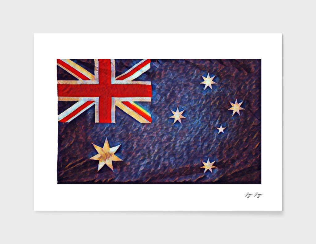 Australia Flag Old Colonialism Overlay Noise Hard Sha