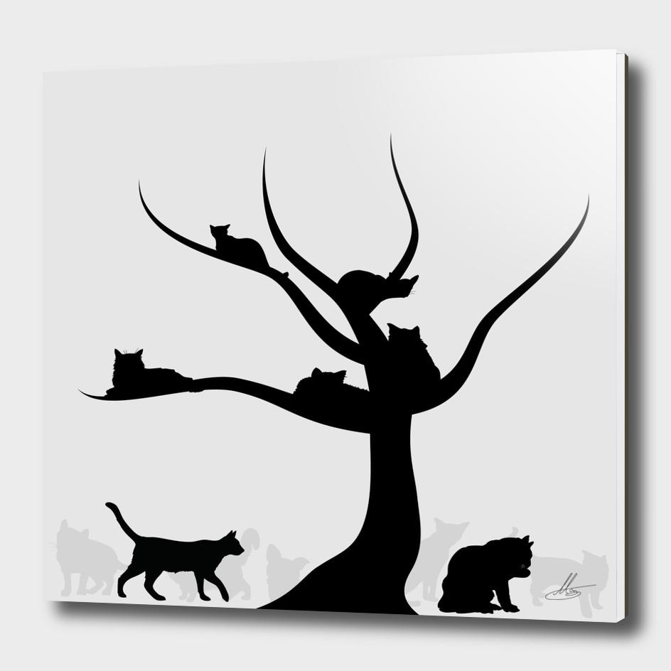 Tree of cats