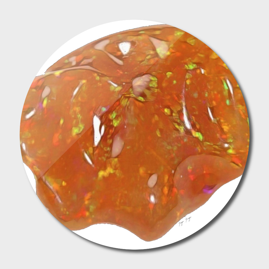Mexican Fire Opal Hydrated Silica Water Content Weight