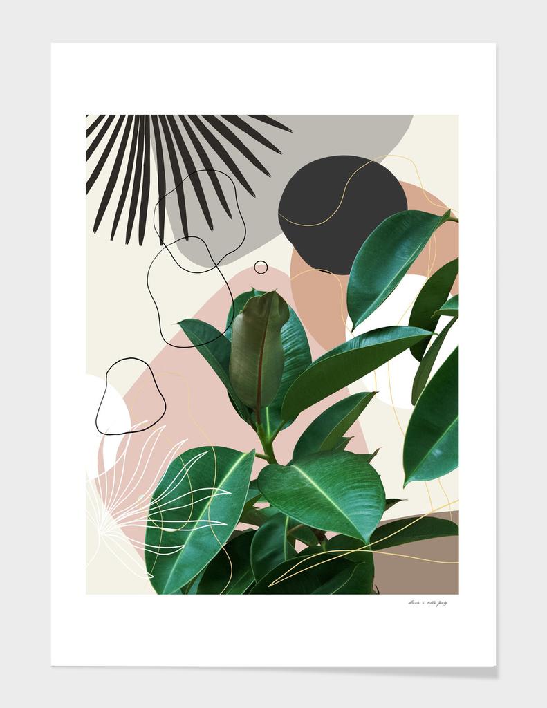 Ficus Fan Palm Finesse #1 #tropical #decor #art