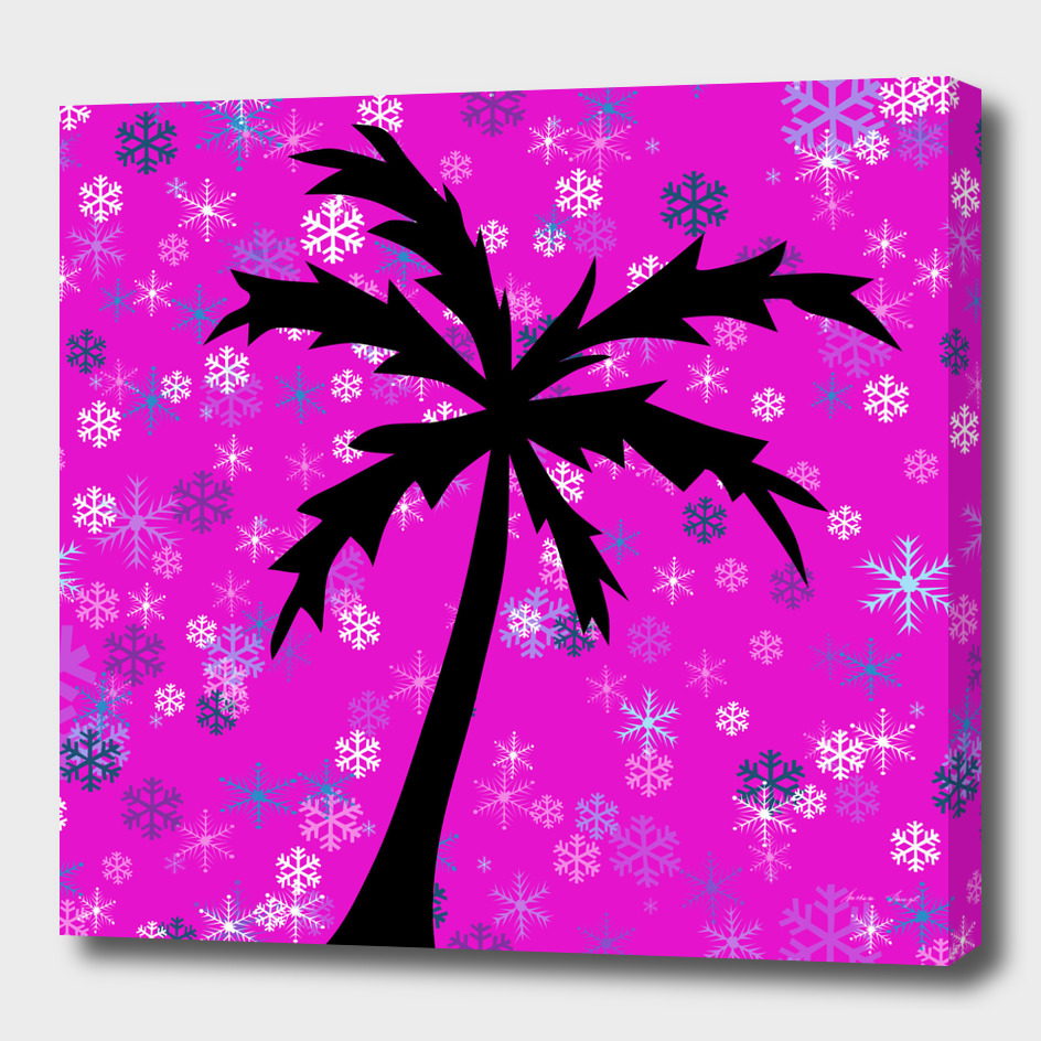 Palm Tree and Snowflakes