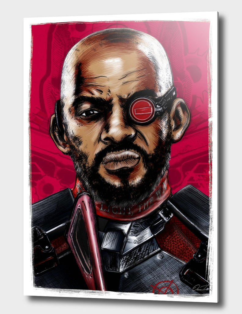 Deadshot - Ink & Digital Portrait