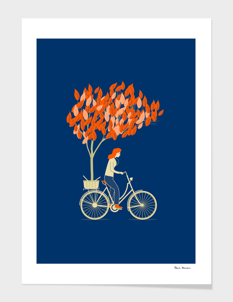 The biker and the tree