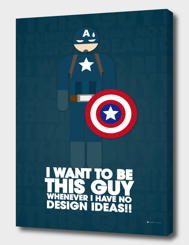 I Want to Be Captain America Whenever I have no design idea