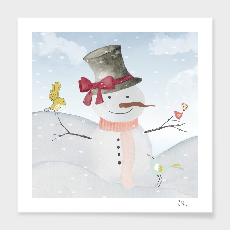 Winter wonderland - Snowman and friends