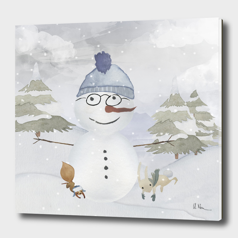 Winter wonderland - Snowman and friends