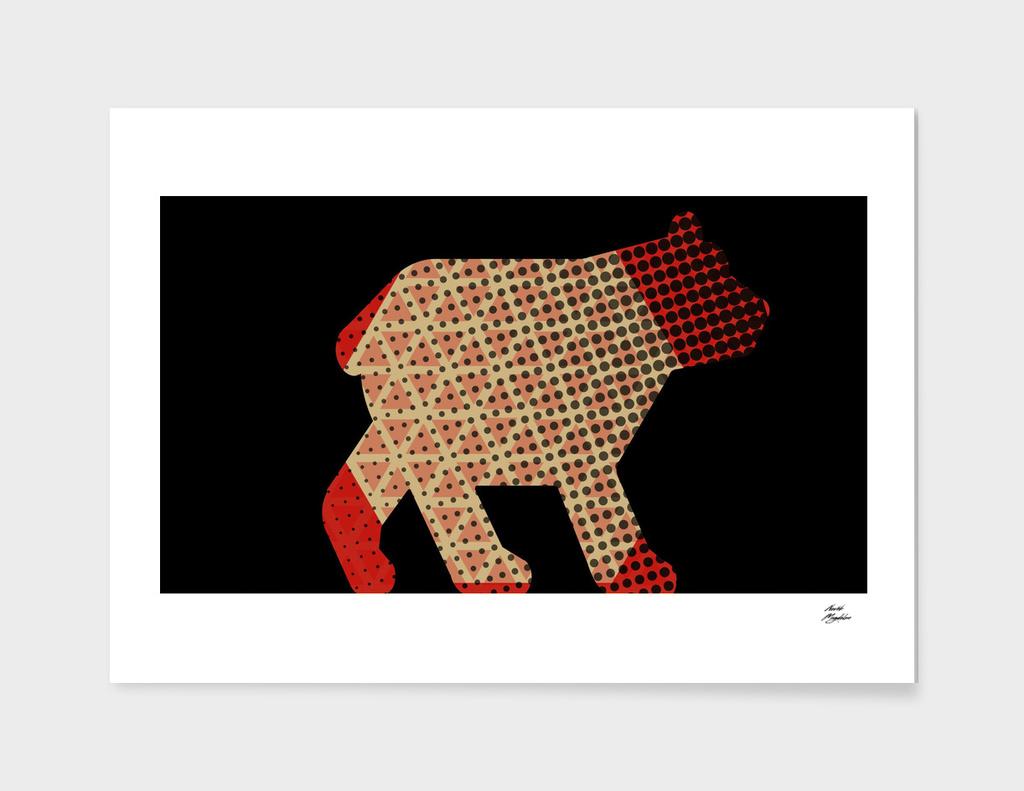 red pyjamas bear
