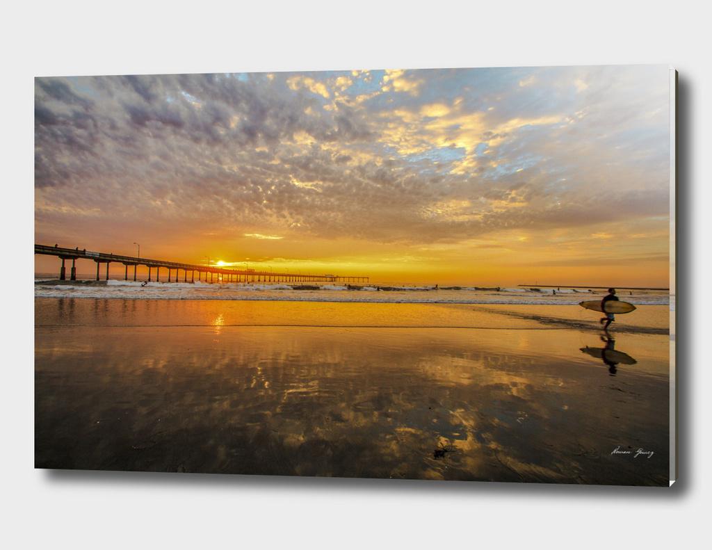 Ocean Beach  sunset  surfen