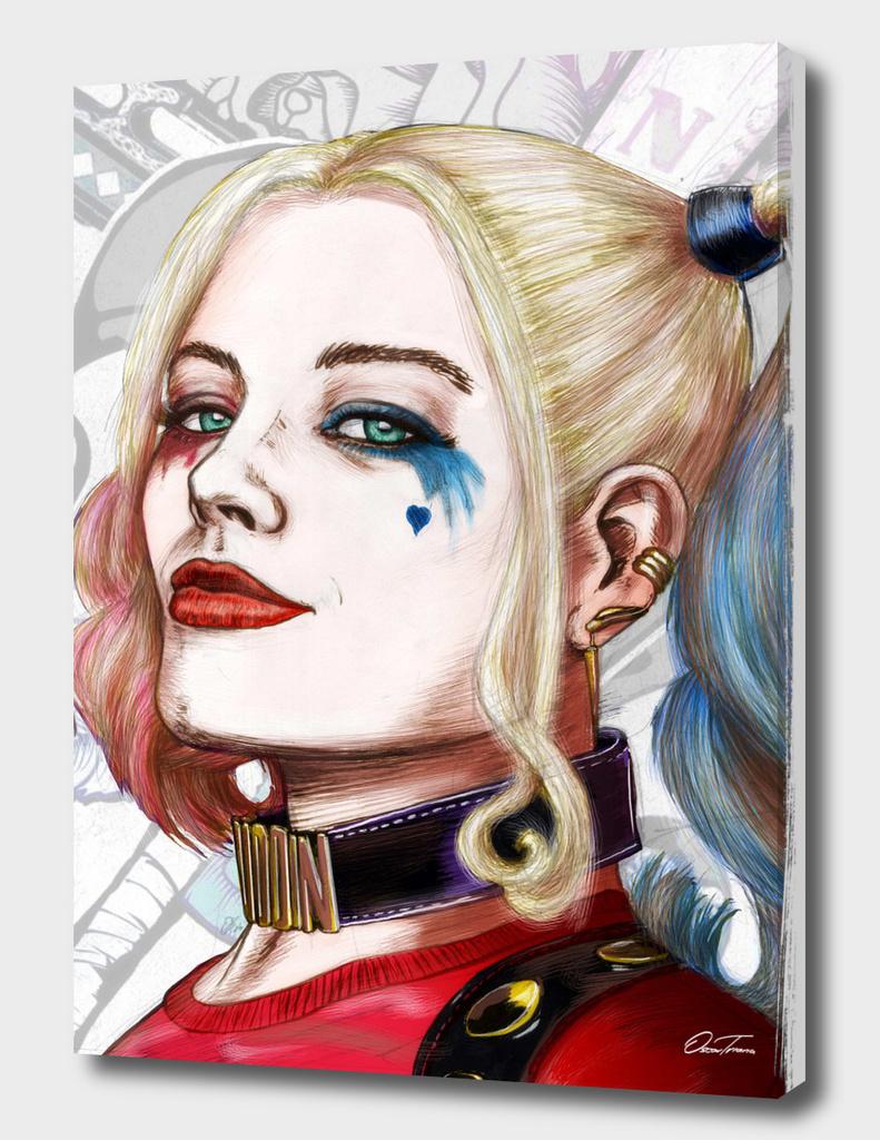 Harley Quinn - Ink & Digital Portrait