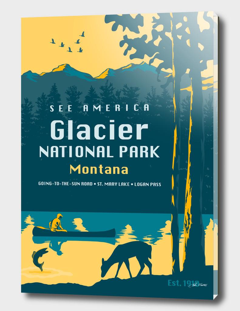 See America – Glacier National Park Montana Travel Poster