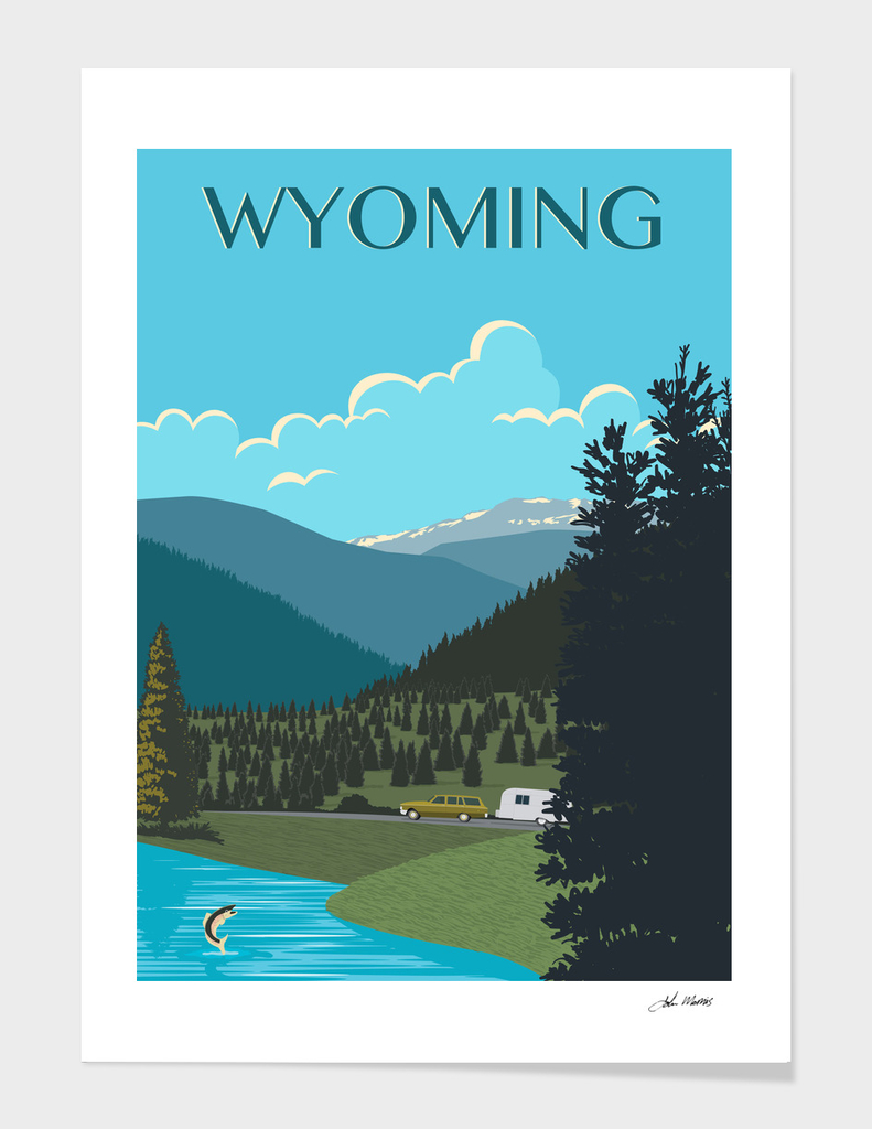 Wyoming Travel Poster