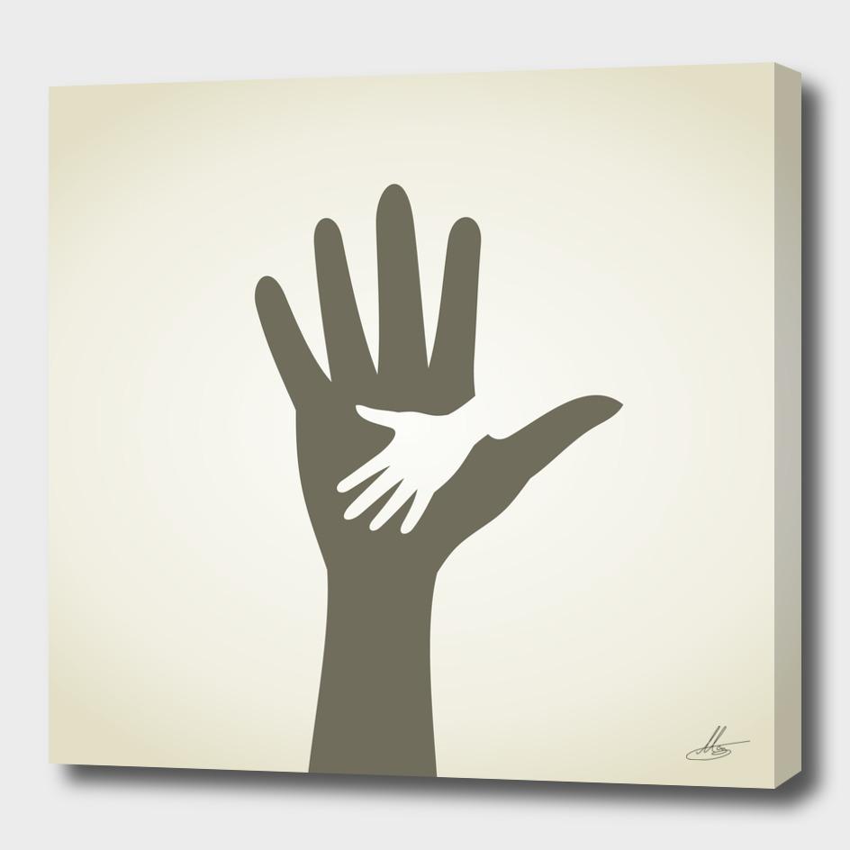 Childrens hand