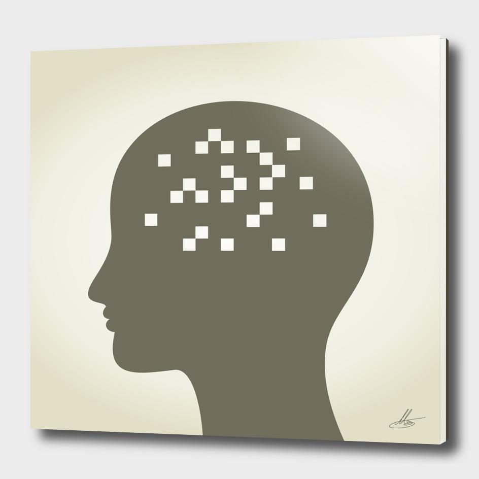 Pixel in a head