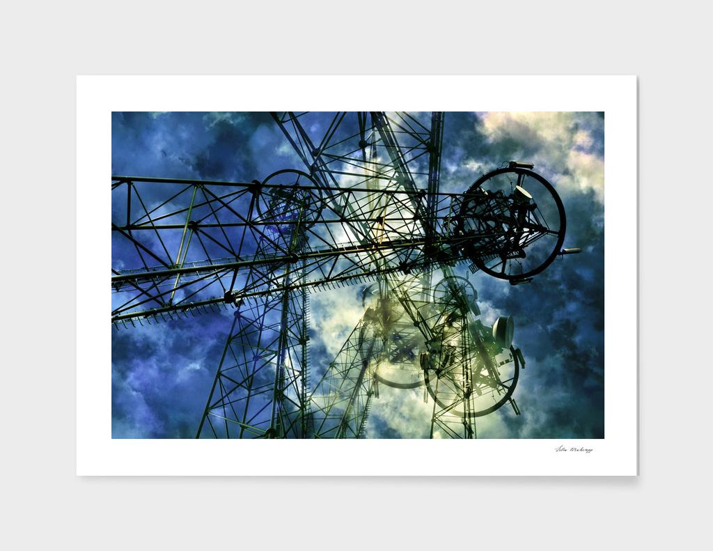 Blue Futuristic Cloud Drama