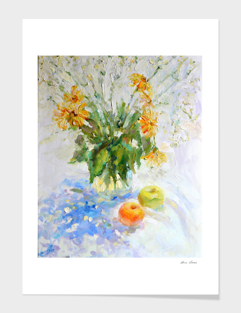 Flowers in white