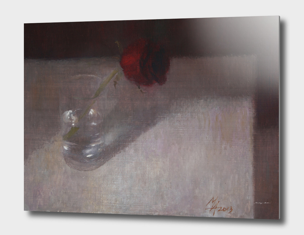 Rose in Glass