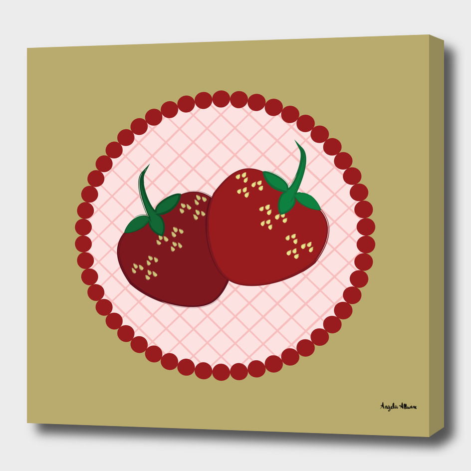 Strawberry Cream Pie Art
